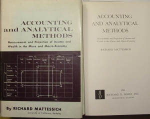 Photo couverture The Accounting Review, Richard Mattesich – Juillet 1961.