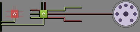 Schéma cablage sortie clavier.