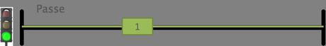 Représentation du courant qui passe quand l'interrupteur est actif.