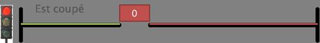 Représentation du courant coupé quand l'interrupteur est inactif.