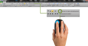 Capture menu renvoyer à la ligne Microsoft Excel.