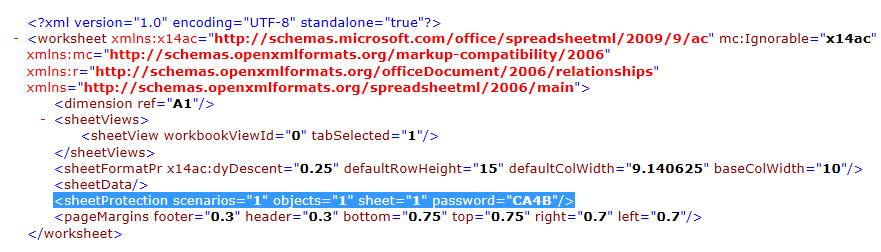 Capture du contenu du fichier xml.