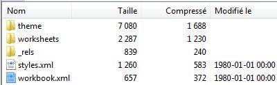Capture contenu fichier xlsx dans 7zip.