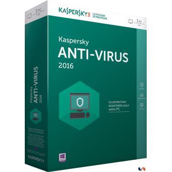 Boite antivirus Kaspersky.