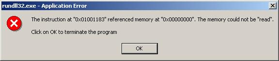 Ma mémoire ne peut être lue. Heureusement, manquerait plus que ça ! Mais pour l'ordinateur, c'est un bug.