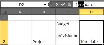 Capture sélection texte à mettre en exposant Microsoft Excel.