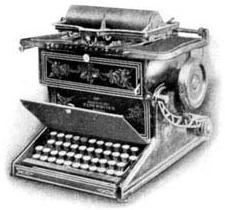 La Remington, première machine à écrire.