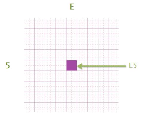 Une feuille de calcul est composée de cellules.