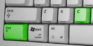 Image combinaison de touche contrôle + C.
