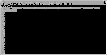 Capture d'écran du premier tableur.